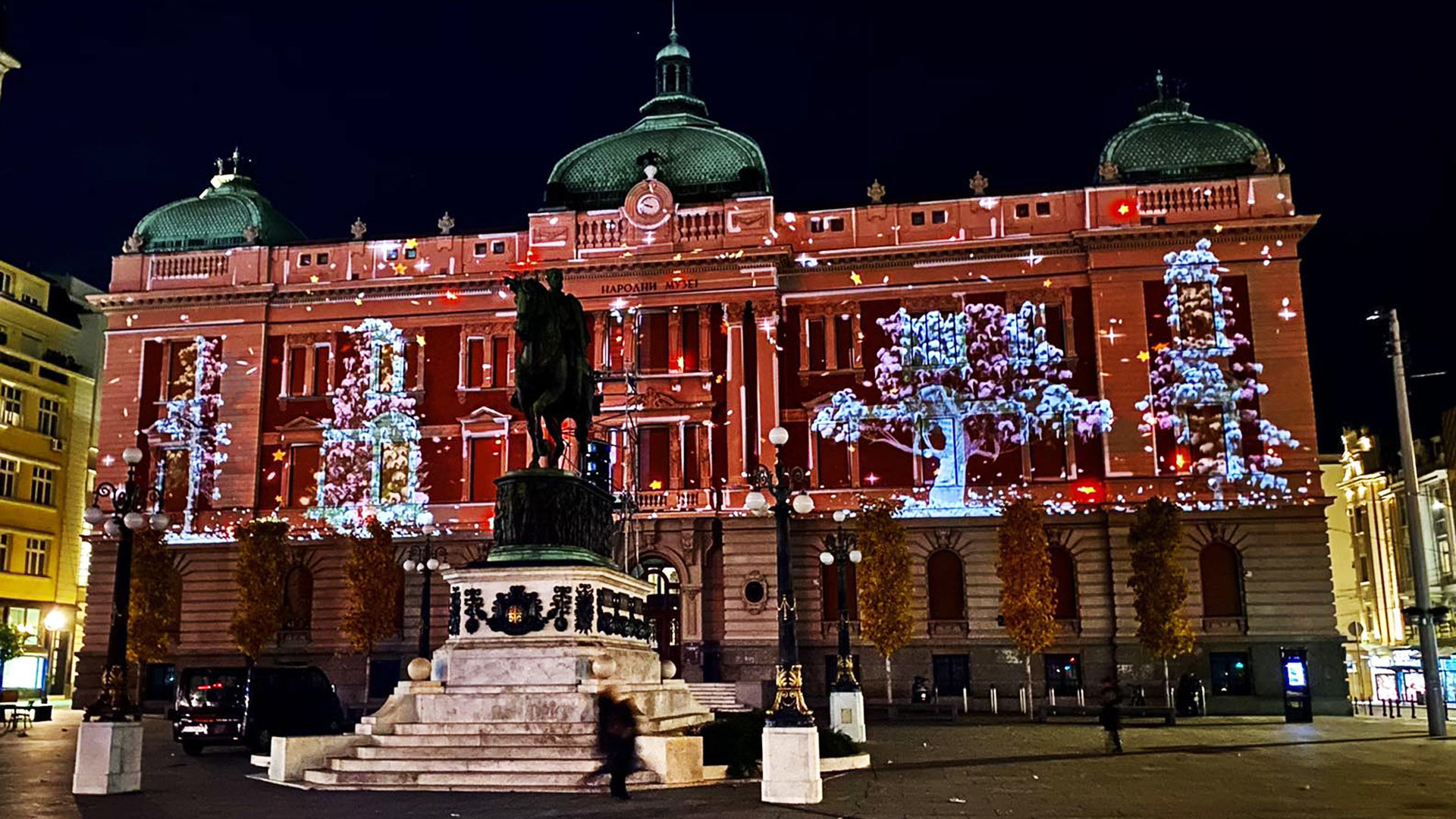 3D mapping on the National Museum facade